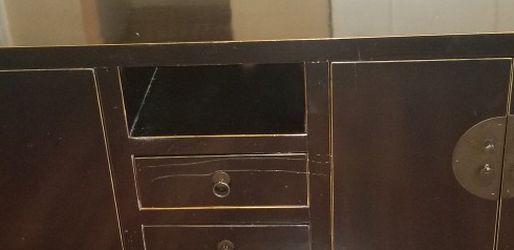 Black Wood Media Cabinet From Bali for Sale in Covington,  WA