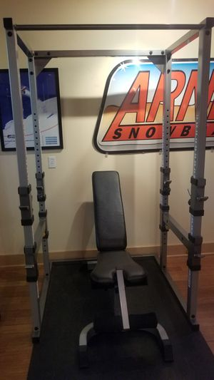 Power cage and workout bench for Sale in Lakewood, WA