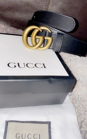 Men's/Women's Gucci Leather belt with Double G buckle (Euro 80, US 28-29in) for Sale in Quincy, MA