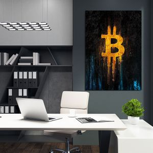 Bitcoin Modern Wall Art Painting. 300+ Artworks On Sale {ArtworkAddict. com} Next Day Shipping or Local COD. 30 Day $ Back & Lifetime Guarantee! More for Sale in Chino Hills, CA