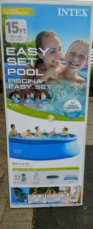 """IN HAND INTEX 15FT X 48"""" EASY SET ABOVE GROUND SWIMMING POOL SET for Sale in Boston, MA"""
