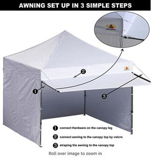 ABCCANOPY Canopy Tent Pop-up Instant Shelters Portable Market Canopies with Matching Sidewalls, Weight Bags, Roller Bag,Bonus Canopy Awning for Sale in San Francisco, CA