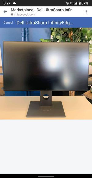 Dell U2717D 27 inch 1440p InfinityEdge IPS UltraSharp Monitor for Sale in Queens, NY