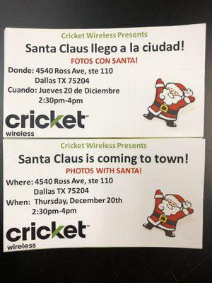 Free fotos with Santa! for Sale in Dallas, TX