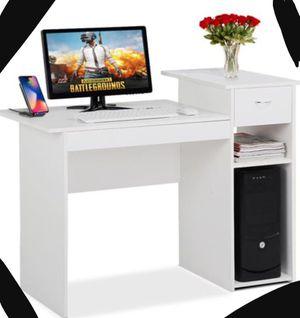 New!! Desk , computer desk , computer desk w drawer and shelf, writing desk, student desk, white for Sale in Phoenix, AZ