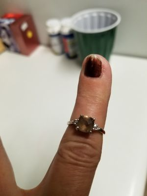 14 kt. White gold genuine smokey quartz ring for Sale in Breezy Point, MN