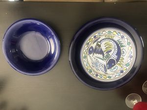 Fish plate set with serving trays and bowls for Sale in Port St. Lucie, FL