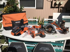 Rigid power tool set 2 drills charger & batteries for Sale in Tarpon Springs, FL