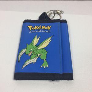 Pokemon Scyther Blue Tri-Fold Wallet Nintendo Rare for Sale in Teaneck, NJ