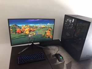 "Ready to Play Like New Gaming PC (Ryzen 5 2600, Radeon RX 5600 XT, curved 24"" Monitor) for Sale in Austin, TX"
