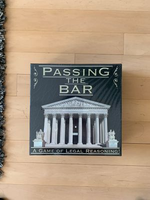 Passing The Bar , a game of legal reasoning! for Sale in New York, NY