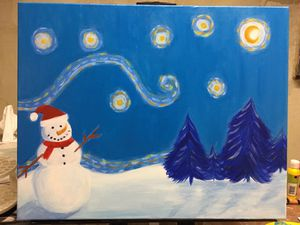 Hand painted Christmas acrylic canvas for Sale in Hurricane, WV