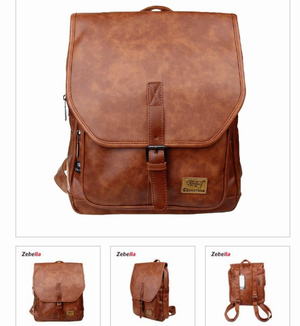 Zebella Unisex Vintage Leather College Laptop Backpack for Sale in San Diego, CA