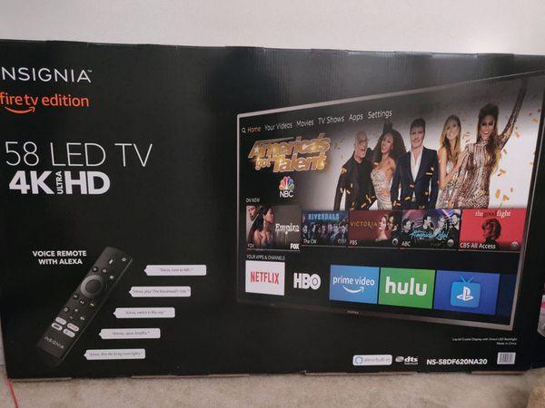 "Insignia 58"" LED 4K ultra HD SMART TV"