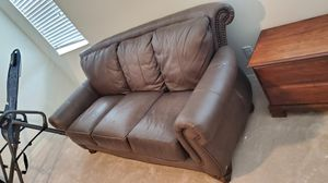 Leather Studded Couch for Sale in Riverview, FL