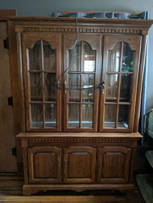 Oak China Cabinet for Sale in Wichita, KS