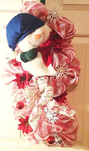 Deco Mesh Snowman Wreath for Sale in Inwood, WV