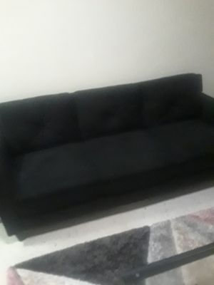 Black Suede Sofa & Love Seat Combo for Sale in Johnstown, PA