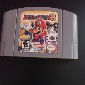 Mario Party 3 Nintendo 64 for Sale in Miami Gardens, FL