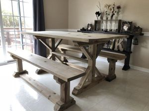 Hand made all wood picnic dining table for Sale in Nashville, TN