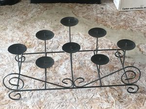 Black metal candle holder for Sale in Williamsport, PA
