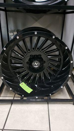 20x12 black hardcore rims 6 lug 6x139 6x5.5 on new tires 33 1250 20 for Sale in Phoenix, AZ