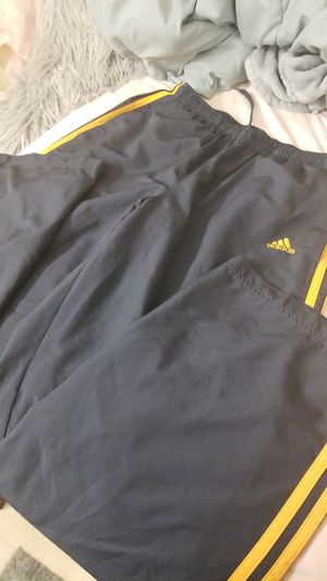 Long grey and yellow ADIDAS pants for Sale in Flower Mound, TX