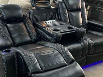 Led Power reclining Living Room Set (Sofa And loveseat) Same Day Delivery) for Sale in Houston,  TX