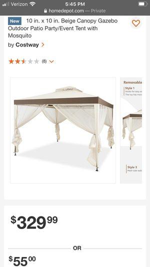 Costway Beige Heavy Duty Party Gazebo Tent Canopy for Sale in Bakersfield, CA