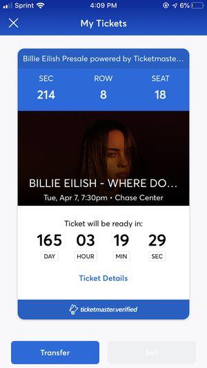 Billie Eilish April 7th 2020 for Sale in Castro Valley, CA