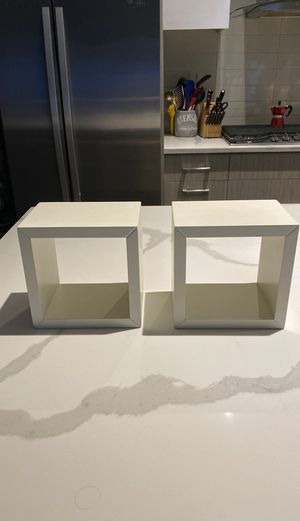 Box Wall Shelves (white x2) for Sale in Chicago, IL