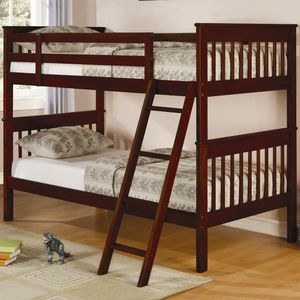 Twin bunk bed with ladder for Sale in Florissant, MO