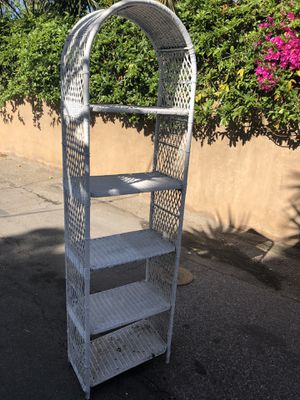 21x12x74 white whicker shelving unit for Sale in Huntington Beach, CA