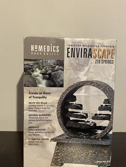 """NEW HoMedics EnviraScape Relaxation Tabletop """"Zen Springs"""" Oasis Water Fountain for Sale in Hickory Hills,  IL"""