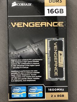 Corsair Vengeance DDR3 16gb (2x 8GB) 1600MHz Notebook Laptop PC RAM Memory Card for Sale in Las Vegas,  NV