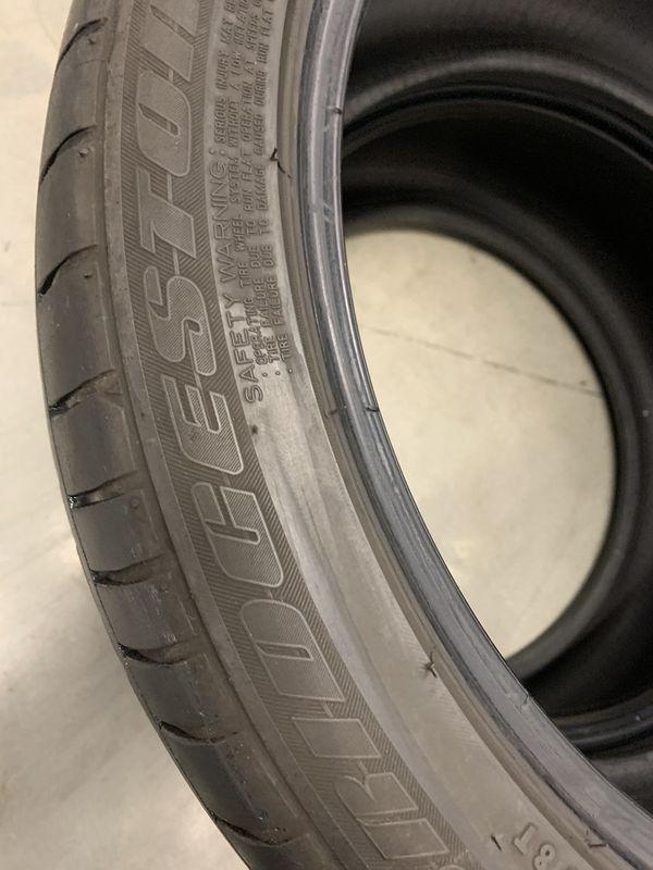 245 40 19 Bridgestone run flat 2 tires