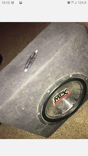 Mtx 12 inch sub with box for Sale in Wichita, KS