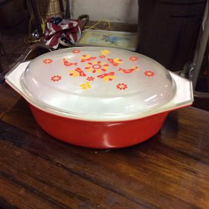 Beautiful Orange Vintage Pyrex Cooking Dish for Sale in Mendon, MA