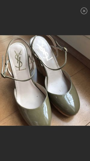 YSL Olive Wedges in Great Condition - Size 5 for Sale in Washington, DC