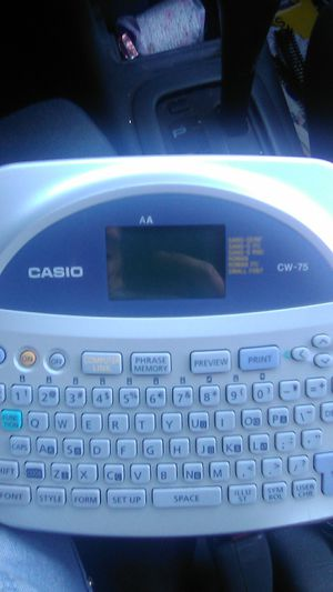 Casio Disc Title Printer with accessories and downloadable software for Sale in Rolling Hills Estates, CA