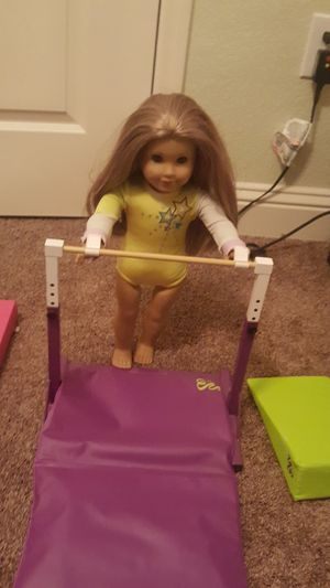 Mckenna american girl doll with gymnastic equipment and accessories for Sale in Plano, TX