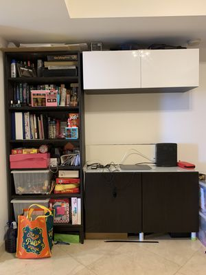 bookshelves and TV stand storage 2 piece for Sale in SUNNY ISL BCH, FL