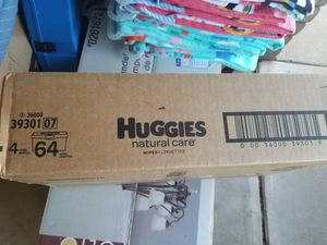 4 pack huggies wipes natural care for Sale in Glendale, AZ