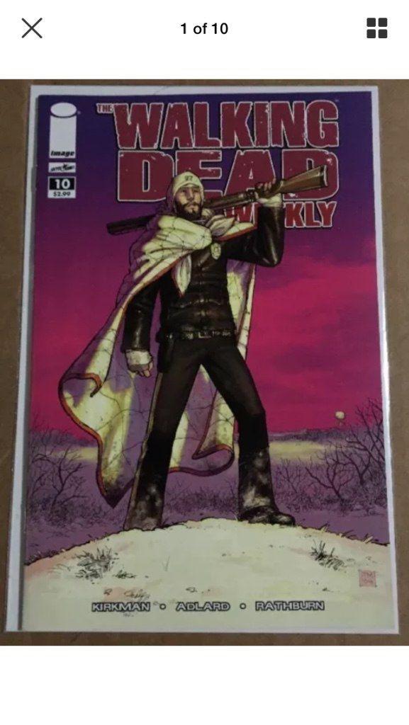 The walking dead weekly comic book