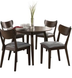 5pc San Marino Mid-Century Modern Round Dining Set Chestnut for Sale in Beverly Hills,  CA