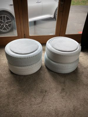 Storage Seat Ottomans. Great to use as outdoor furniture, storage, a man cave etc. Also, Super easy to to clean. The price is $120 for both or $65 ea for Sale in Holland, PA