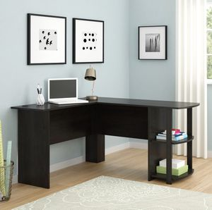 Modern computer espresso L-desk table *read description for Sale in Chino, CA