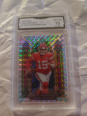 2020 Panini Mosaic Stained Glass Patrick Mahomes II Chiefs Gma 10 GEM MINT for Sale in Buffalo, NY