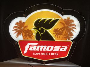 New Famosa Guatemala Imported led beer bar sign light for Sale in Chino Hills, CA