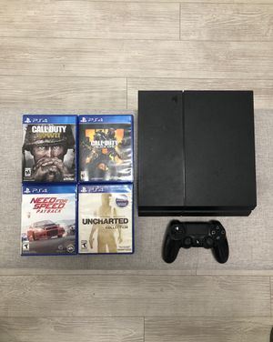 PS4 w/ Controller + 4 games! for Sale in Los Angeles, CA